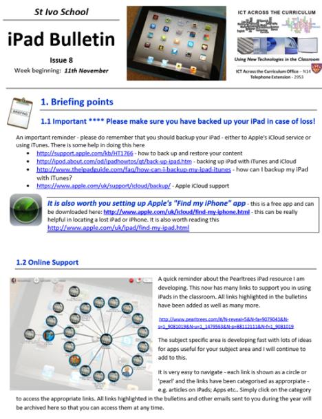 iPad Bulletin 8